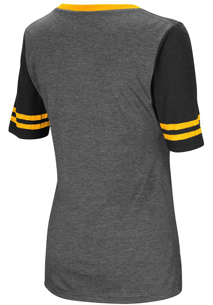 Colosseum Northern Kentucky Norse Womens Grey McTwist V-Neck T-Shirt - Image 2