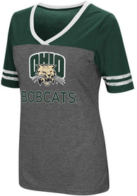 Colosseum Ohio Bobcats Womens Grey McTwist V-Neck