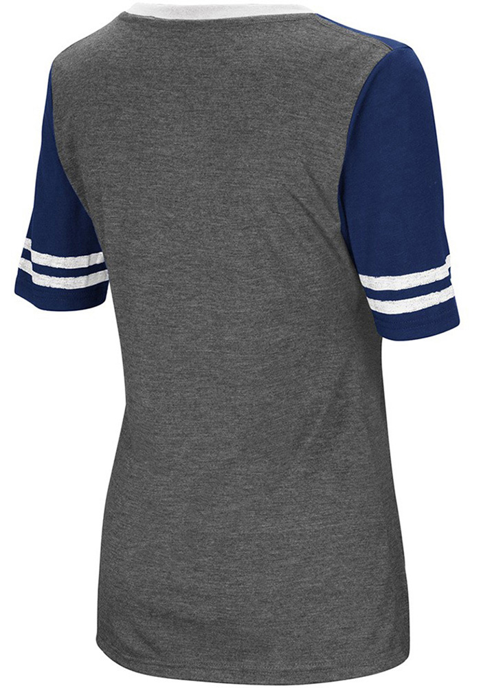 Colosseum Penn State Nittany Lions Womens Grey McTwist V-Neck T-Shirt - Image 2