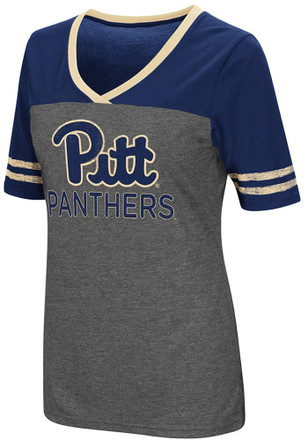 Colosseum Panthers Womens Grey McTwist V-Neck