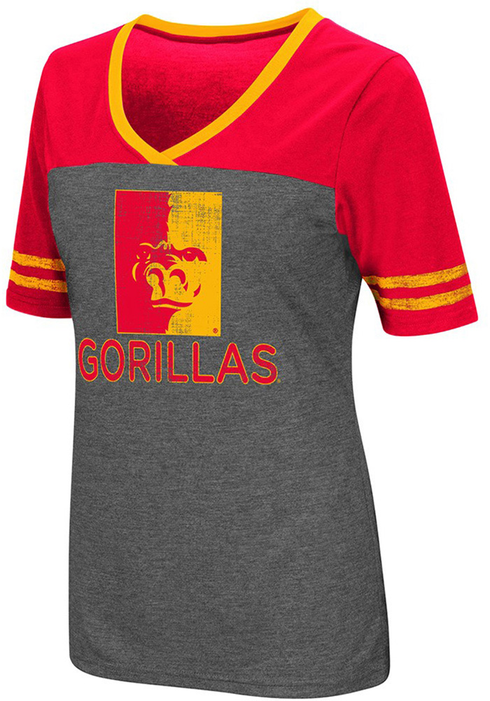 Colosseum Pitt State Gorillas Womens Grey McTwist V-Neck T-Shirt - Image 1