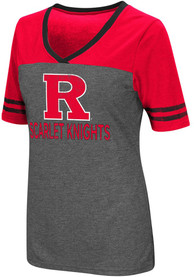 Colosseum Rutgers Scarlet Knights Womens Grey McTwist V-Neck