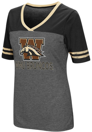Colosseum Western Michigan Broncos Womens Grey McTwist V-Neck