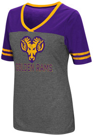 Colosseum West Chester Golden Rams Womens Grey McTwist V-Neck