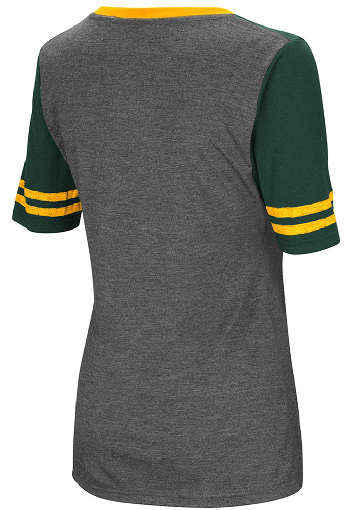 Colosseum Wright State Raiders Womens Grey McTwist V-Neck T-Shirt - Image 2