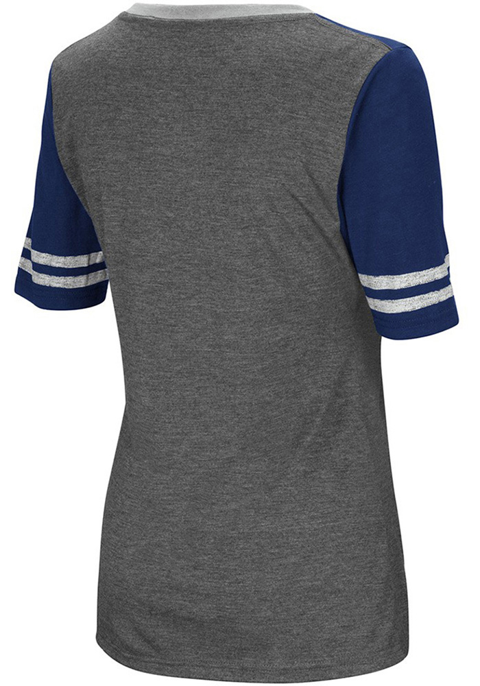 Colosseum Xavier Musketeers Womens Grey McTwist V-Neck T-Shirt - Image 2