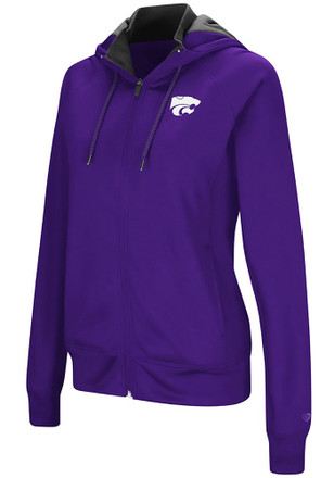 Colosseum K-State Wildcats Womens Purple Medley Full Zip Jacket