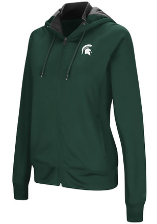 Colosseum Michigan State Spartans Womens Green Medley Full Zip Jacket