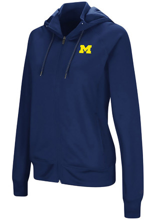 Colosseum Michigan Wolverines Womens Navy Blue Medley Full Zip Jacket