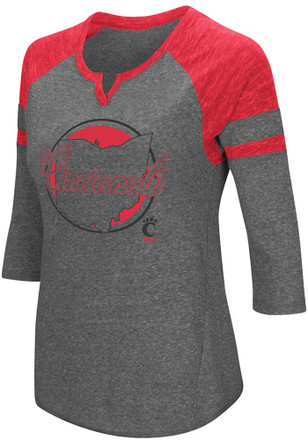 Colosseum Cincinnati Bearcats Womens Red Par T-Shirt