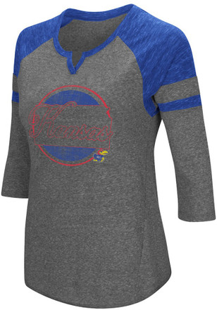 Colosseum Kansas Jayhawks Womens Blue Par T-Shirt