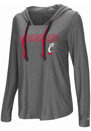 Colosseum Cincinnati Bearcats Womens Grey Podium Featherweight T-Shirt