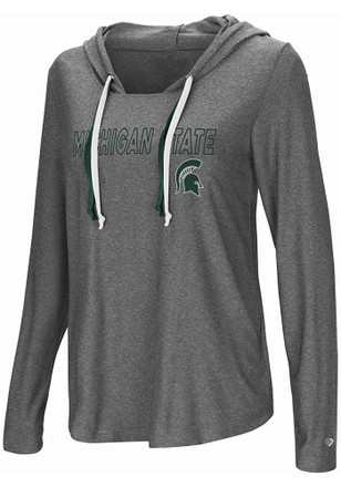 Colosseum Michigan State Spartans Womens Grey Podium Featherweight T-Shirt