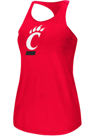 Colosseum Cincinnati Bearcats Womens Red Preliminary Tank Top