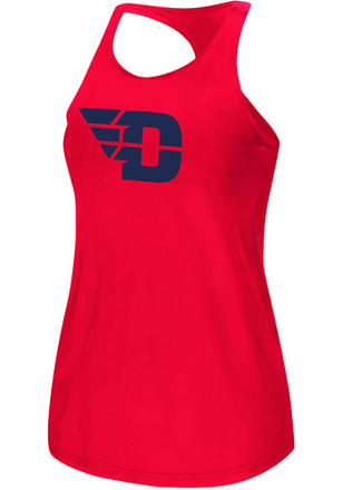 Colosseum Dayton Flyers Womens Red Preliminary Tank Top