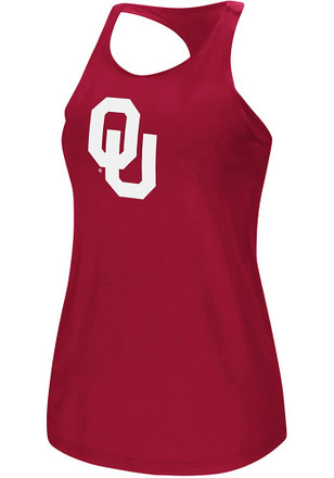 Colosseum Oklahoma Sooners Womens Red Preliminary Tank Top