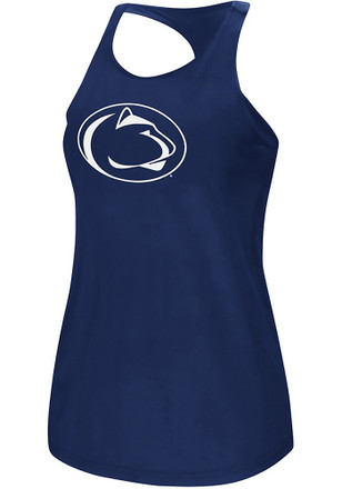 Colosseum Penn State Nittany Lions Womens Navy Blue Preliminary Tank Top