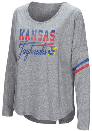 Colosseum Kansas Jayhawks Womens Quinton Scoop Neck Tee