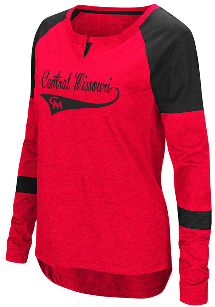 Colosseum UCM Womens Red Routine Long Sleeve Scoop Neck - Image 1
