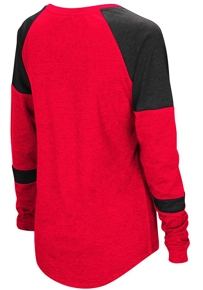 Colosseum UCM Womens Red Routine Long Sleeve Scoop Neck - Image 2