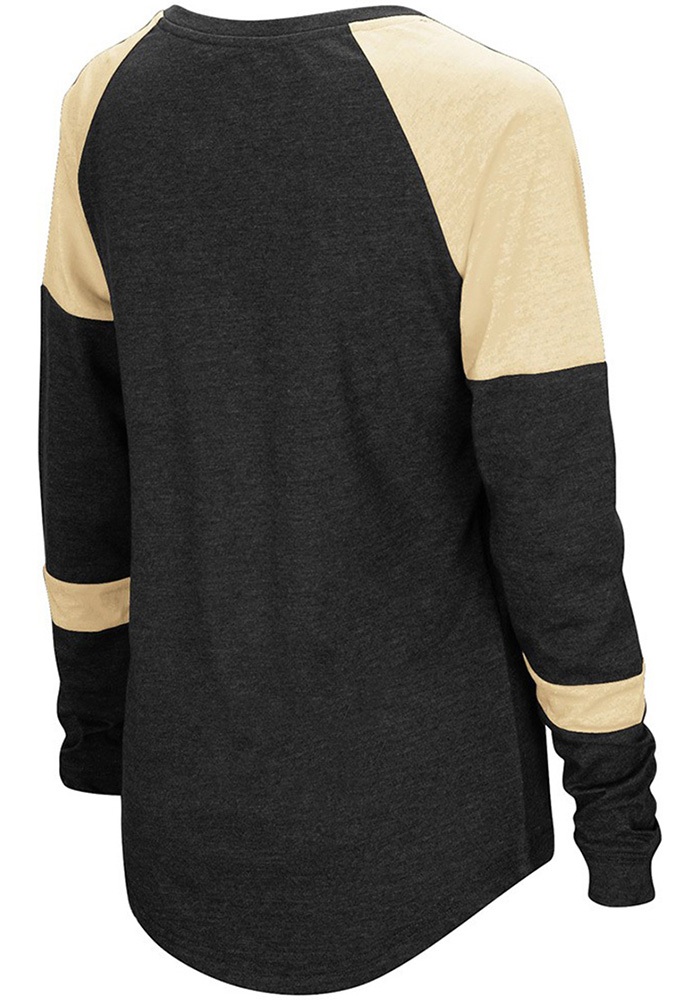 Colosseum Emporia State Womens Black Routine Long Sleeve Scoop Neck - Image 2