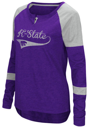 Colosseum K-State Wildcats Womens Routine Scoop Neck Tee