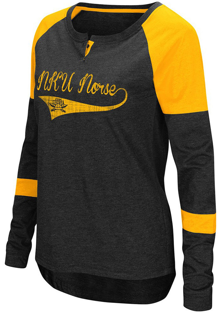 Colosseum NKU Norse Womens Black Routine Long Sleeve Scoop Neck - Image 1