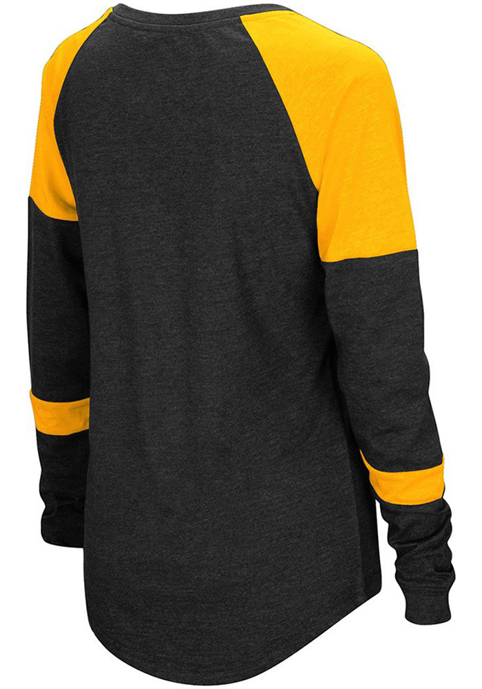 Colosseum NKU Norse Womens Black Routine Long Sleeve Scoop Neck - Image 2