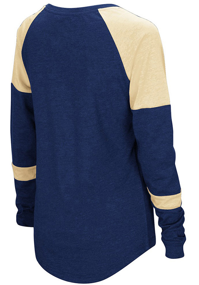 Colosseum Panthers Womens Navy Blue Routine Long Sleeve Scoop Neck - Image 2