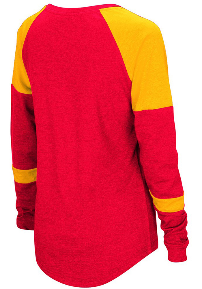 Colosseum Pitt State Womens Red Routine Long Sleeve Scoop Neck - Image 2