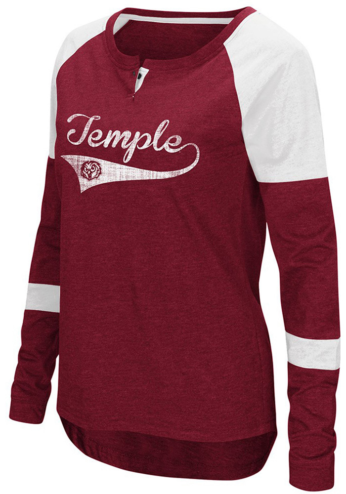 Colosseum Temple Womens Cardinal Routine Long Sleeve Scoop Neck - Image 1