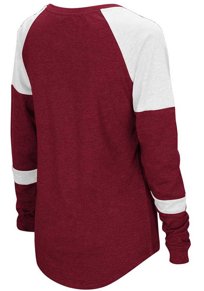 Colosseum Temple Womens Cardinal Routine Long Sleeve Scoop Neck - Image 2