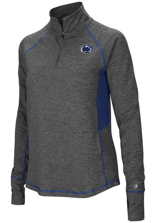 Colosseum Penn State Nittany Lions Womens Sabre Grey 1/4 Zip Pullover