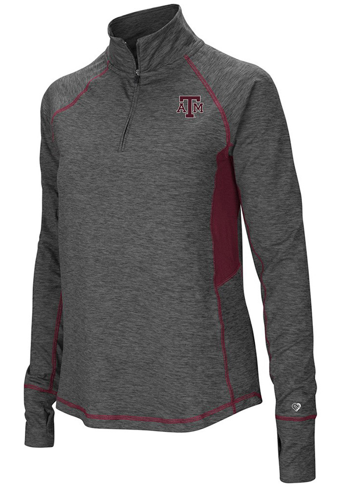 Colosseum Texas A&M Womens Grey Sabre 1/4 Zip Pullover - Image 1