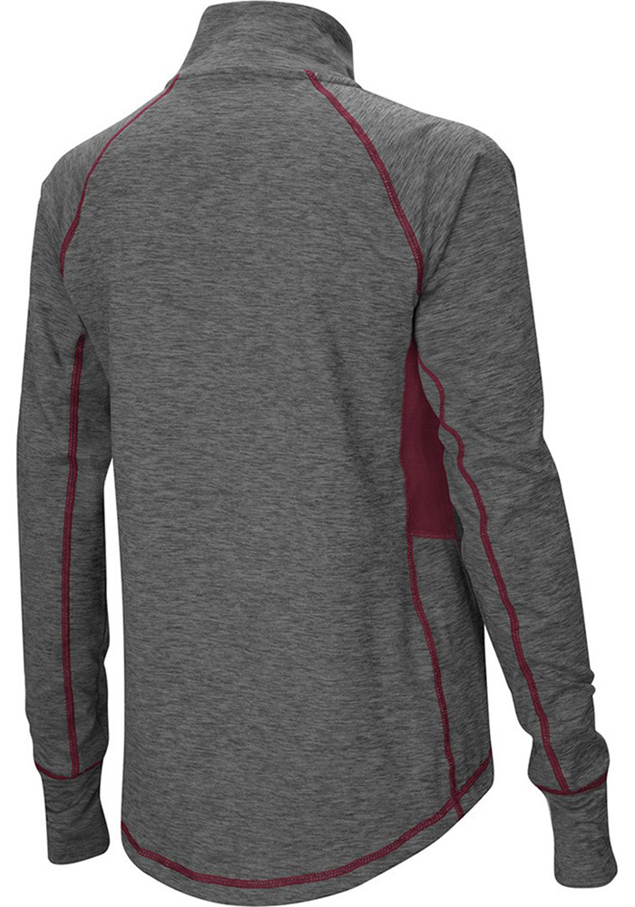 Colosseum Texas A&M Womens Grey Sabre 1/4 Zip Pullover - Image 2