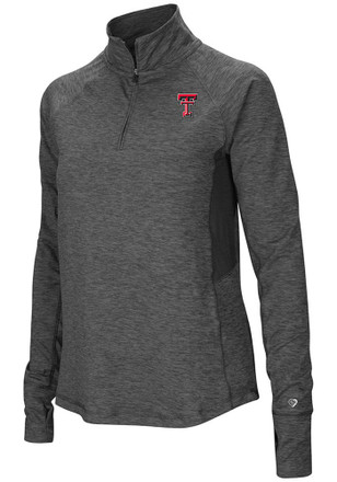 Colosseum Texas Tech Red Raiders Womens Sabre Grey 1/4 Zip Pullover