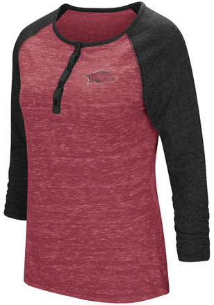 Colosseum Arkansas Razorbacks Womens Slopestyle Scoop Neck Tee