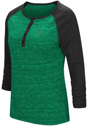 Colosseum North Texas Mean Green Womens Slopestyle Scoop Neck Tee