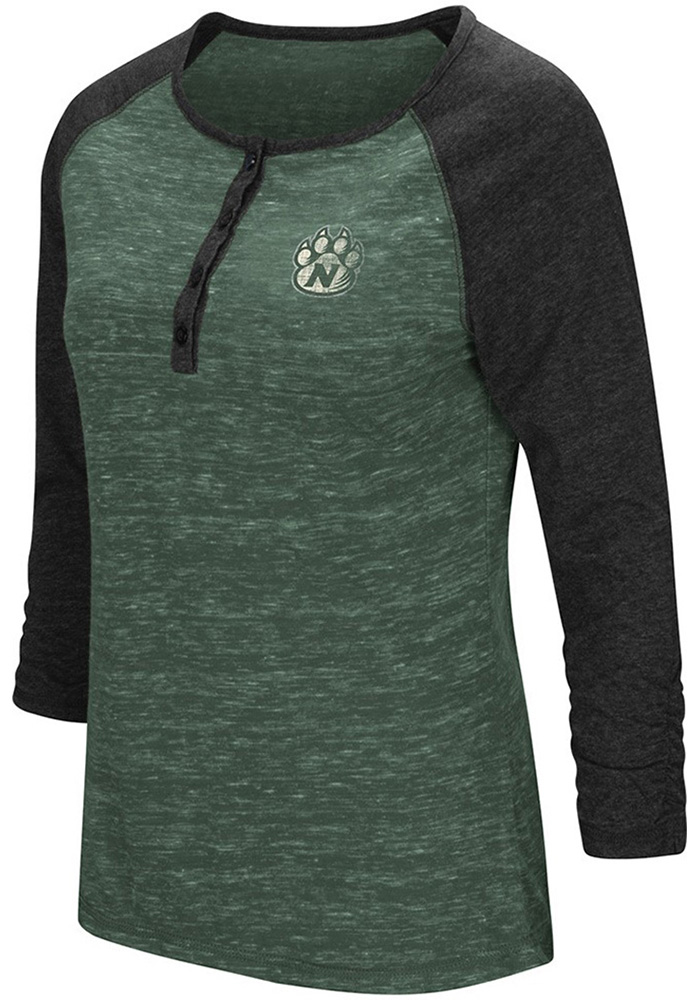 Colosseum Northwest Mo State Bearcats Womens Green Slopestyle Long Sleeve Scoop Neck - Image 1