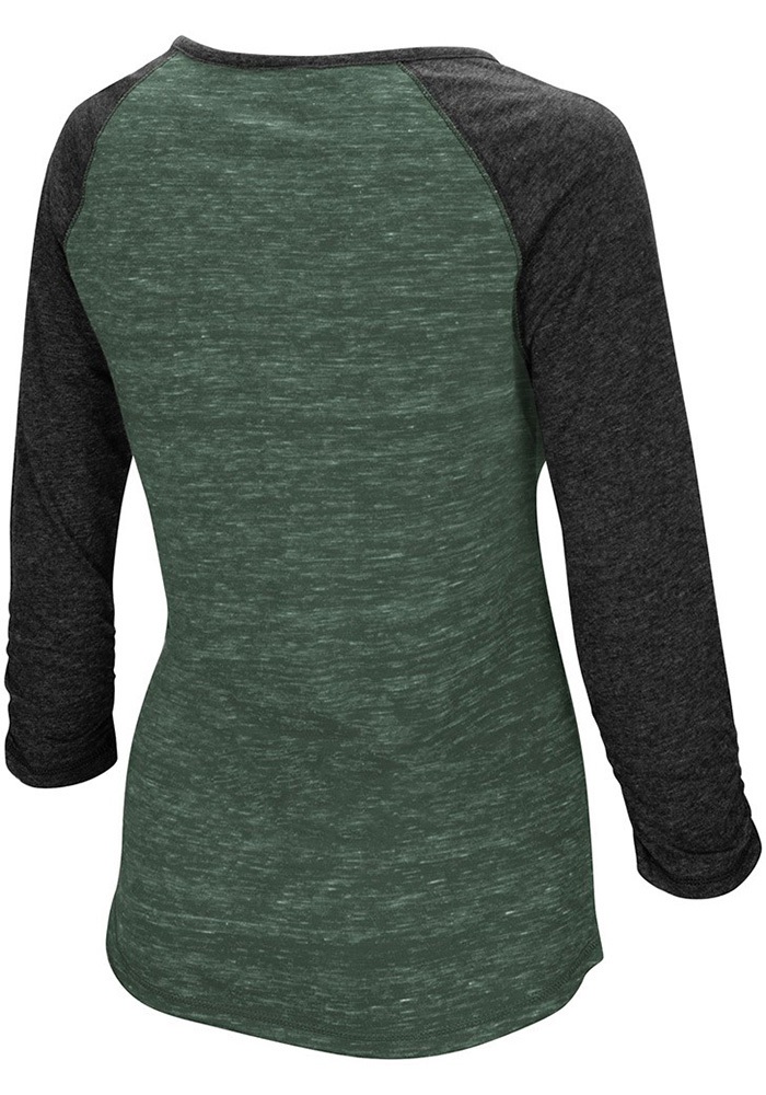 Colosseum Northwest Mo State Bearcats Womens Green Slopestyle Long Sleeve Scoop Neck - Image 2