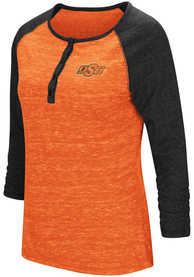 Colosseum Oklahoma State Cowboys Womens Slopestyle Scoop Neck Tee