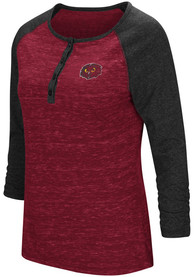 Colosseum Temple Owls Womens Slopestyle Scoop Neck Tee