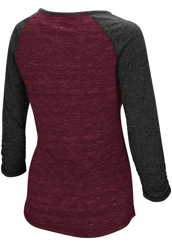 Colosseum Texas A&M Womens Maroon Slopestyle Long Sleeve Scoop Neck - Image 2