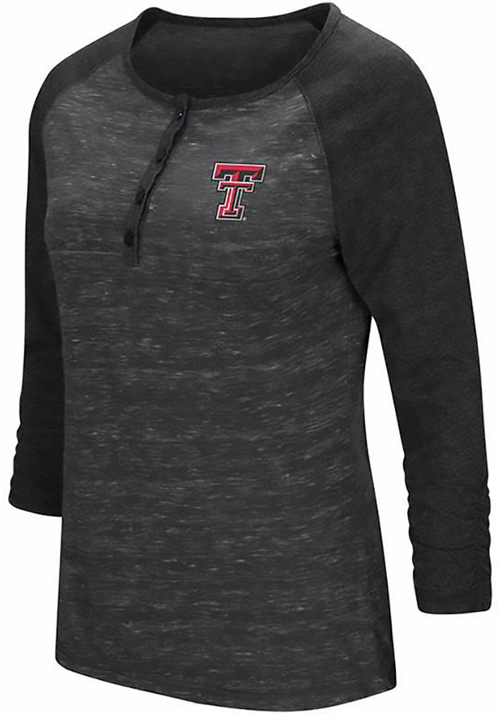 Colosseum Texas Tech Womens Red Slopestyle Long Sleeve Scoop Neck - Image 1