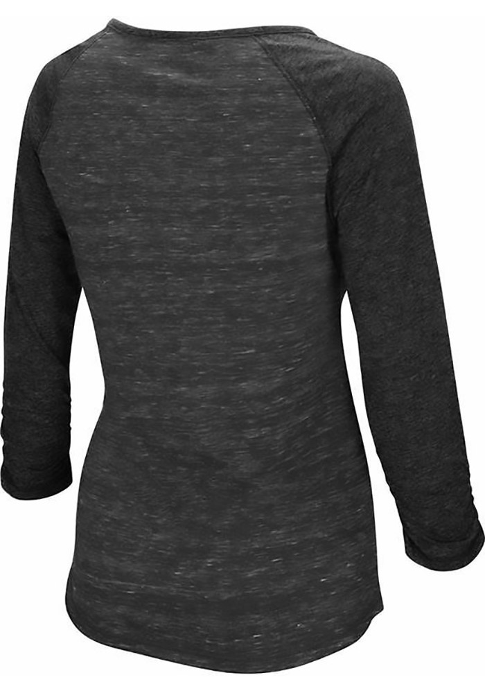 Colosseum Texas Tech Womens Red Slopestyle Long Sleeve Scoop Neck - Image 2