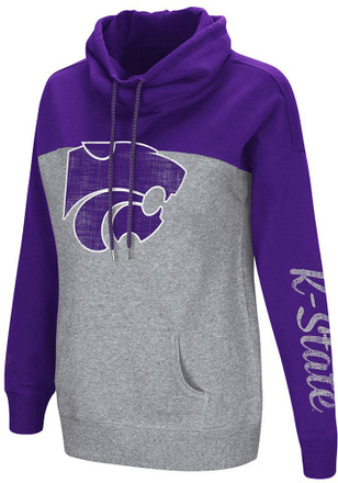 Colosseum K-State Wildcats Womens Grey Springboard Hoodie