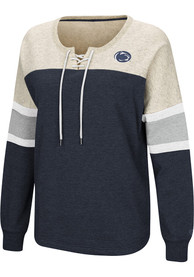 Penn State Nittany Lions Womens Colosseum Become Great Crew Sweatshirt - Navy Blue