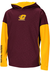 Central Michigan Chippewas Youth Colosseum Snurfer Hooded Sweatshirt - Maroon