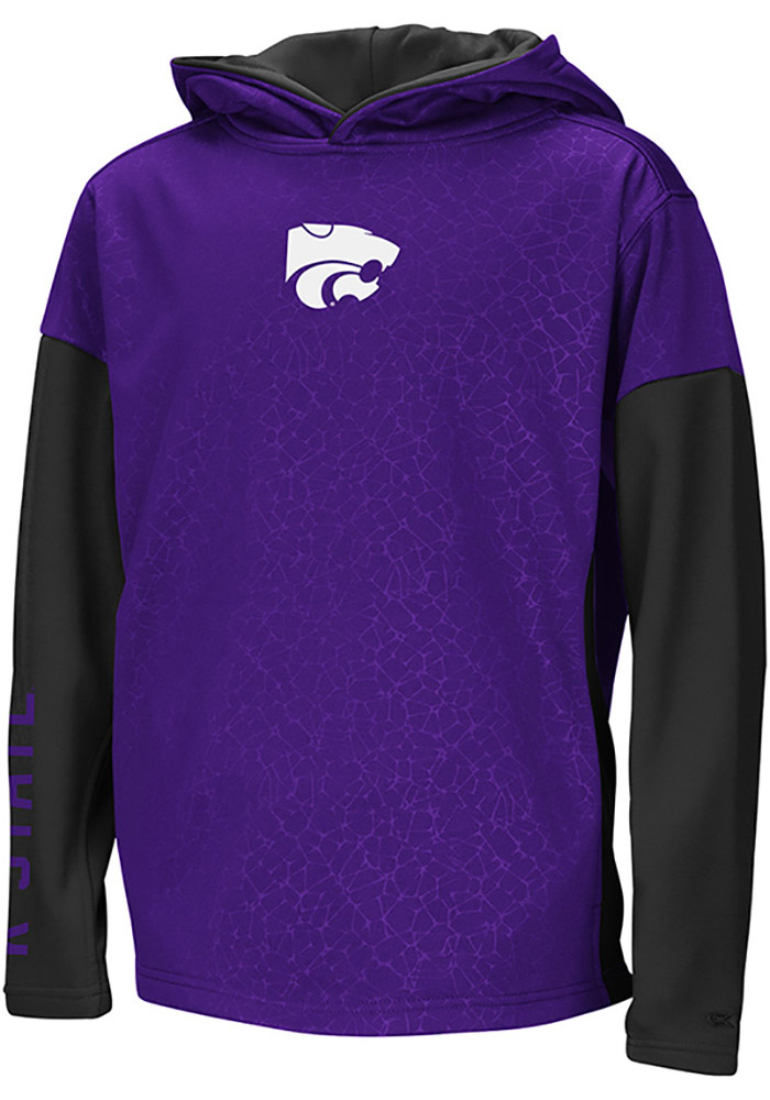 Colosseum K-State Wildcats Youth Purple Snurfer Long Sleeve Hoodie - Image 1
