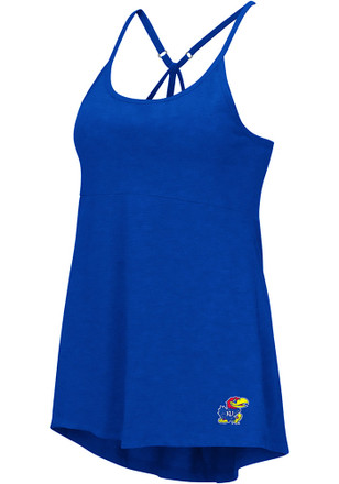 Colosseum Kansas Jayhawks Womens Blue Pheebs Tank Top